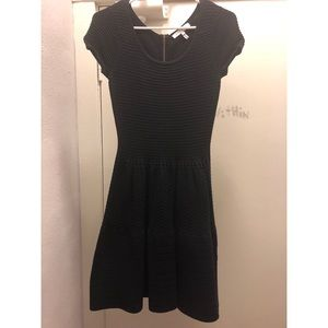 Sandro navy blue cotton cocktail dress size 1